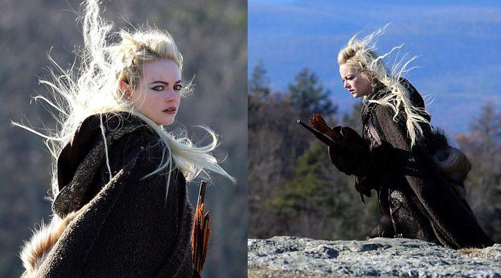 'Emma Stone en el rodaje de 'Maniac''