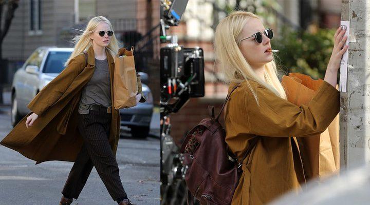 'Emma Stone rodando 'Maniac' a principios de noviembre'
