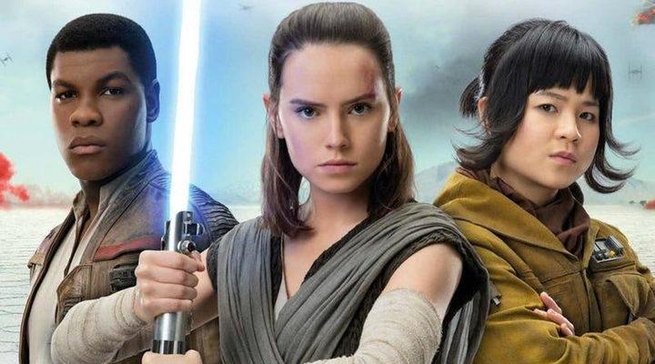 Finn, Rey y Rose en 'Star Wars: Los últimos Jedi