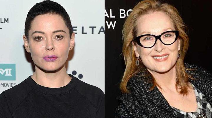 Rose McGowan y Meryl Streep