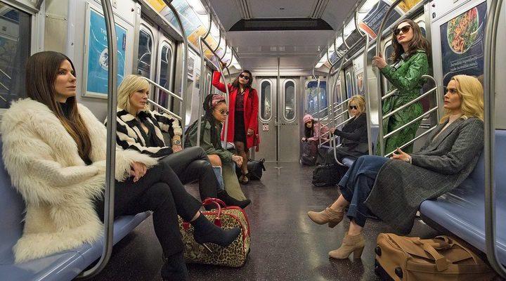 Sandra Bullock, Cate Blanchett, Anne Hathaway, Rihanna, Sarah Paulson, Helena Bonham Carter, Mindy Calin