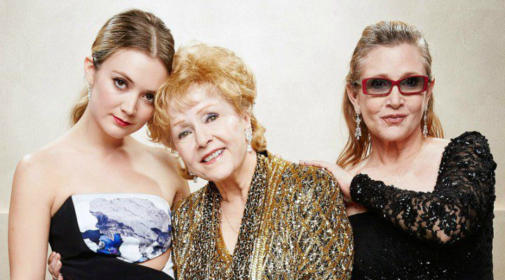 Billie Lourd, Debbie Reynolds y Carrie Fisher
