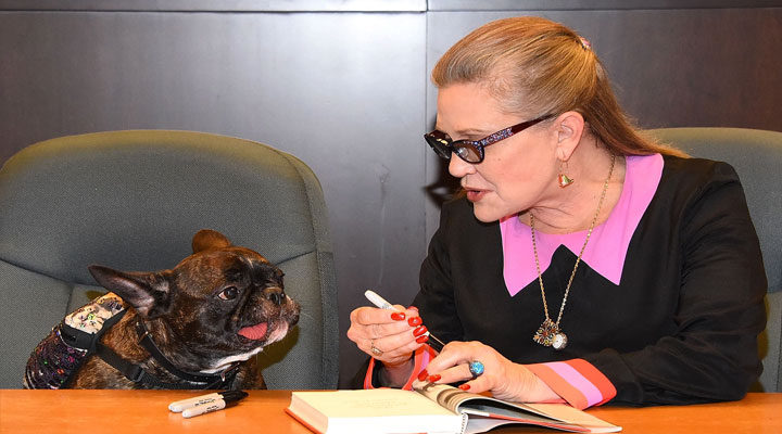 Carrie Fisher y Gary