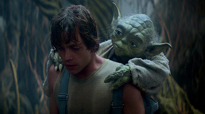 Luke Skywalker y Yoda