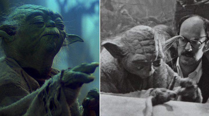 Frank Oz y Yoda en 'El retorno del Jedi'