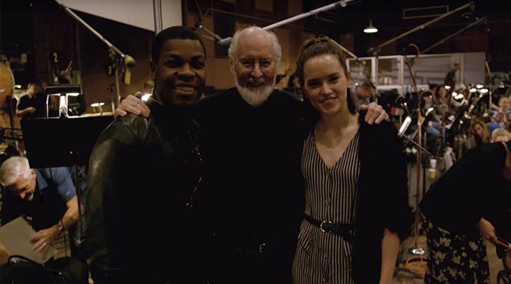 John Williams, John Boyega y Daisy Ridley