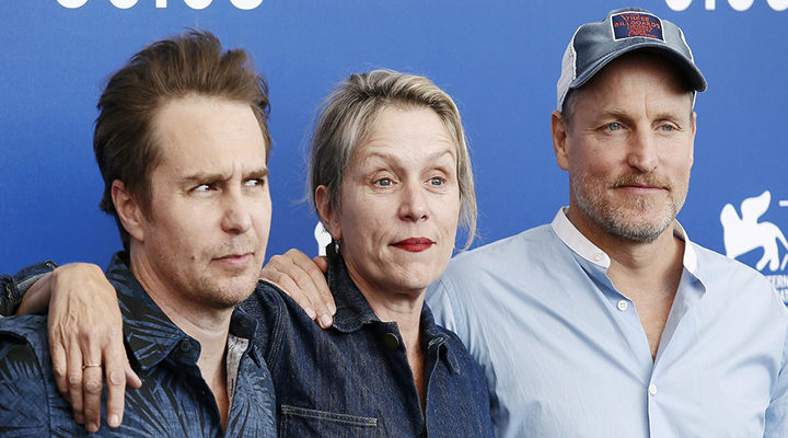 Frances McDormand, Woody Harrelson y Sam Rockwell