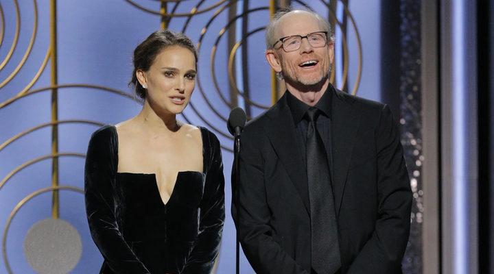 Natalie Portman y Ron Howard presentando el premio a Mejor Director