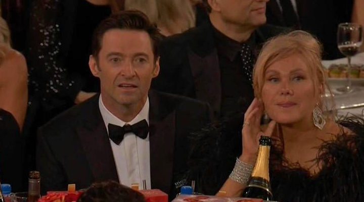 Expresión de Jackman al no ganar el premio