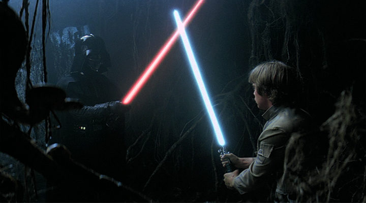 Luke Skywalker y Darth Vader