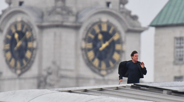 Tom Cruise rodando 'Misión Imposible 6' en Londres