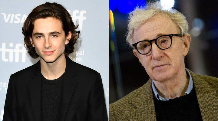 'Timothée Chalamet donará el sueldo de su película con Woody Allen'