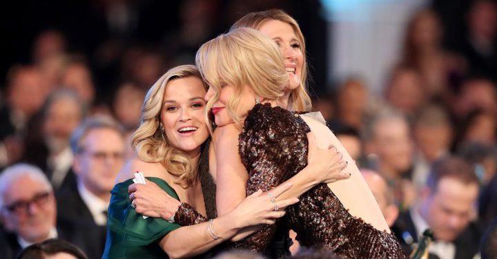 Reese Witherspoon, Laura Dern y Nicole Kidman en los Premios SAG