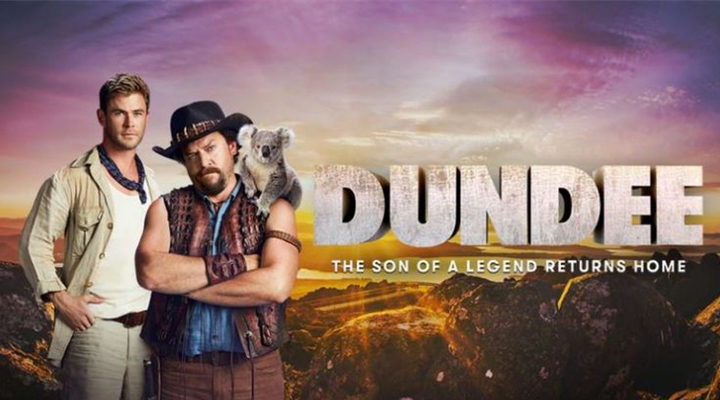 Danny McBride y Chris Hemsworth en 'Dundee'