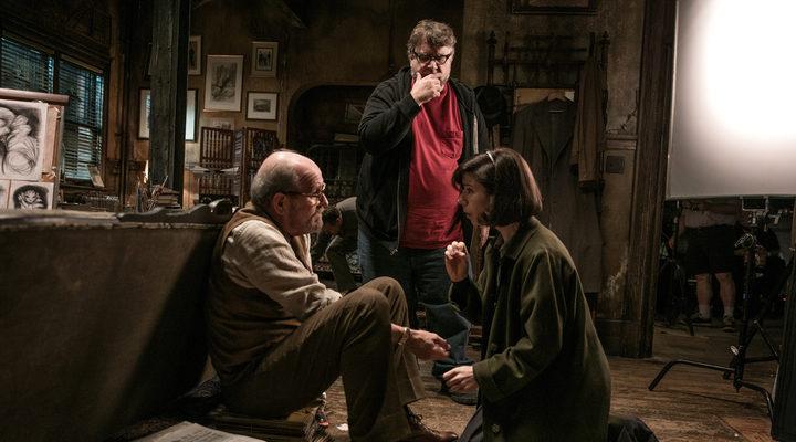 Guillermo del Toro en el set de 'La forma del agua'