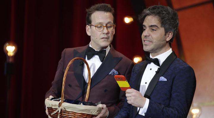 Ernesto Sevilla y Joaquín Reyes en los Premios Goya 2018