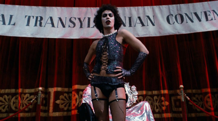 Tim Curry como Frank-N-Furter en 'The Rocky Horror Picture Show'