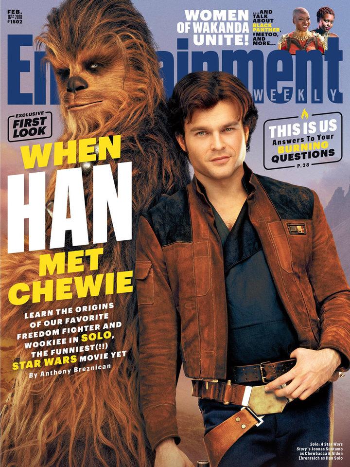 Alden Ehrenreich es Han Solo en la portada de Entertainment Weekly