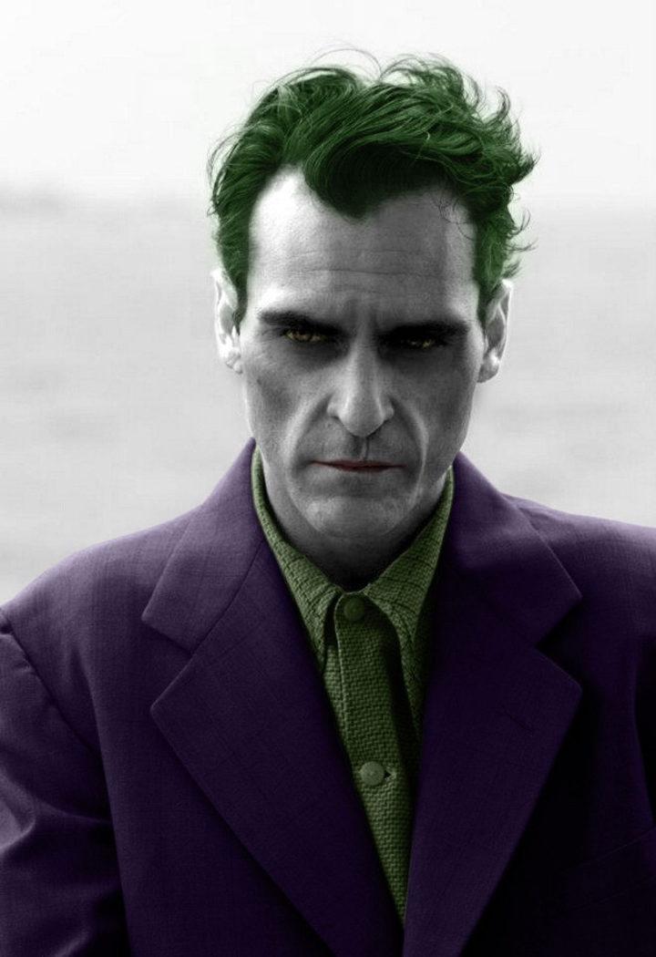 Montaje de Joaquin Phoenix como el Joker