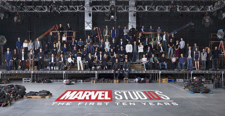 Foto de familia Marvel
