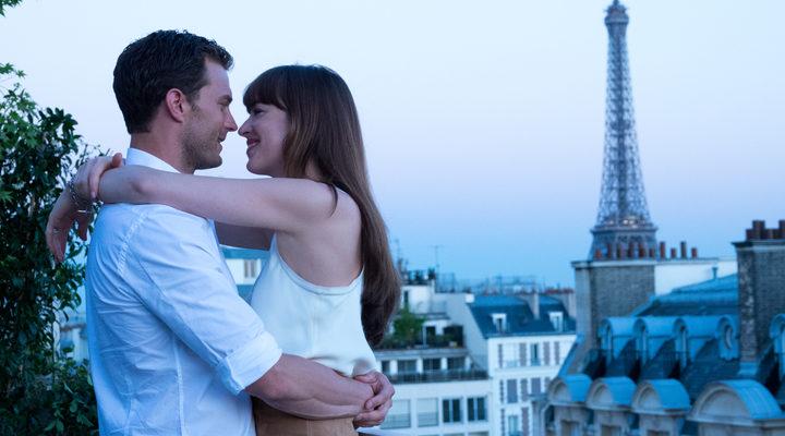 Christian Grey y Anastasia Steele de luna de miel en París