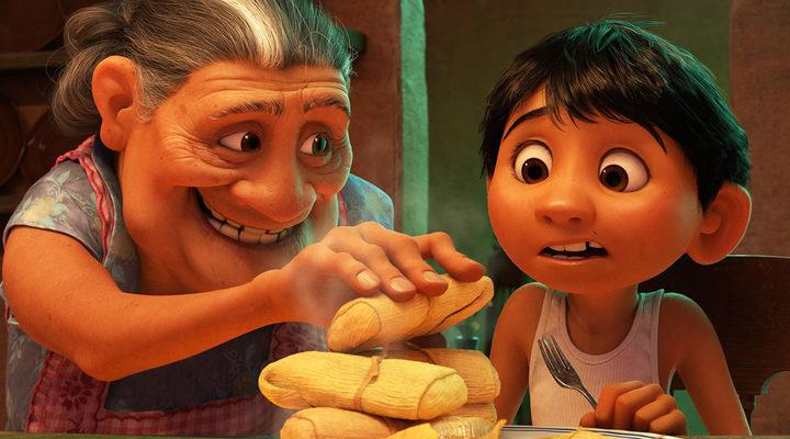 Miguel y su abuela en 'coco'