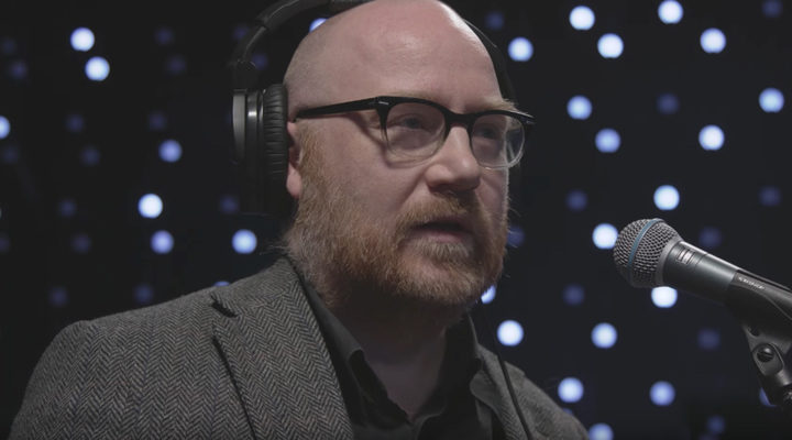 El compositor Jóhann Jóhannson en un concierto en el estuio KEXP