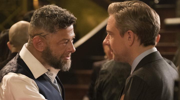 Martin Freeman y Andy Serkis en 'Black Panther'