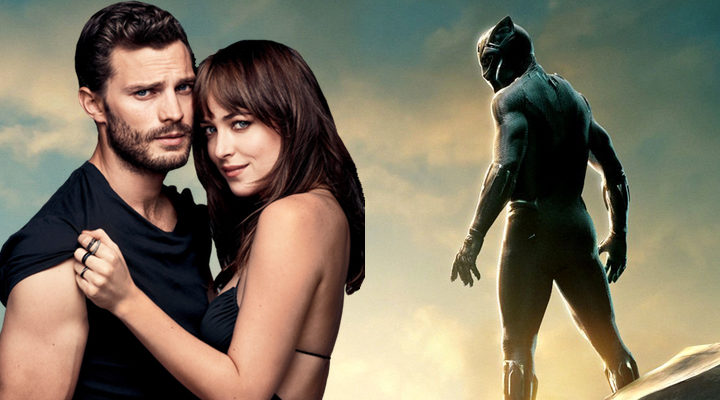 Christian Grey, Anastasia Steele y Black Panther