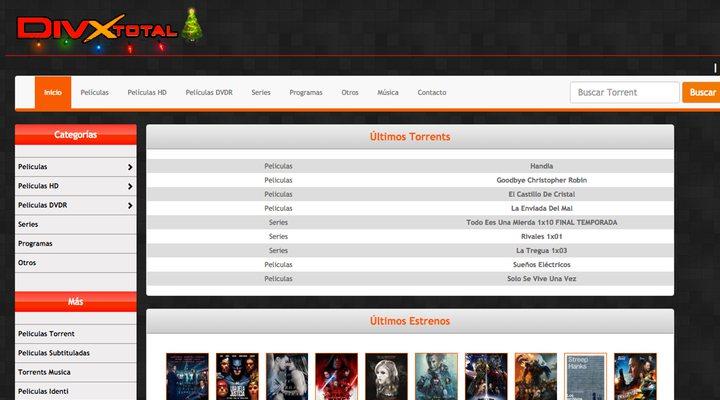 Sitio web DivxTotal