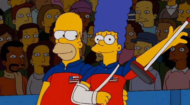 Homer y Marge en 'Los Simpson'