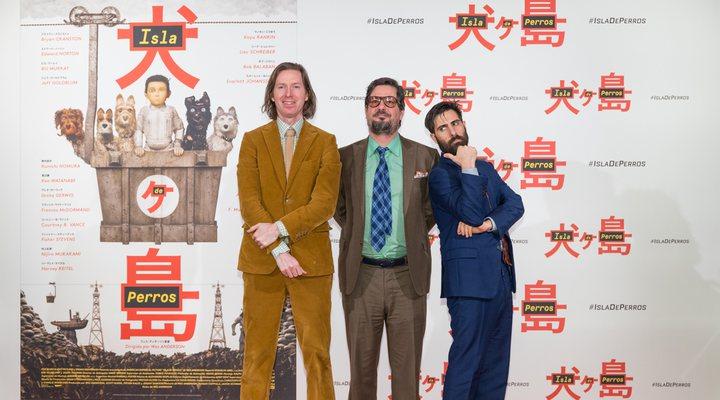 Wes Anderson,  Jason Schwartzman y Roman Coppola
