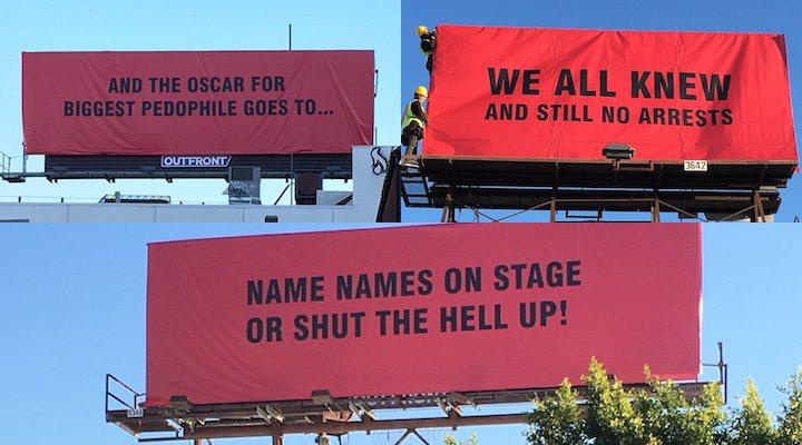 'Aparecen tres anuncios en Hollywood para criticar el abuso sexual'
