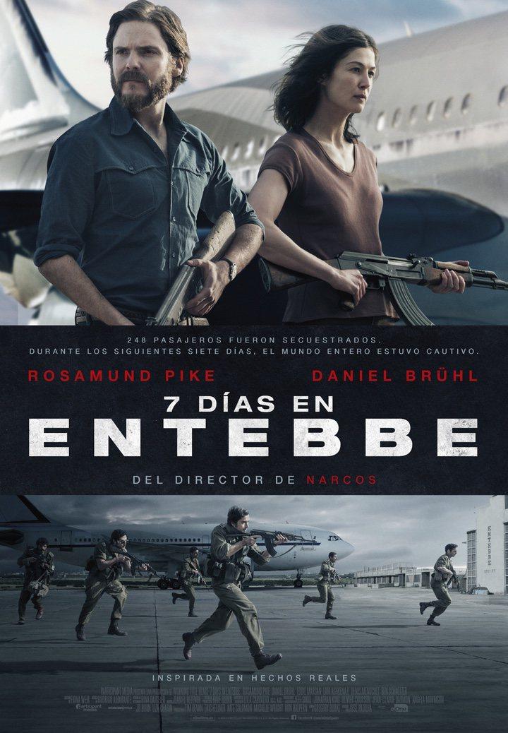 Póster español '7 días en Entebbe'