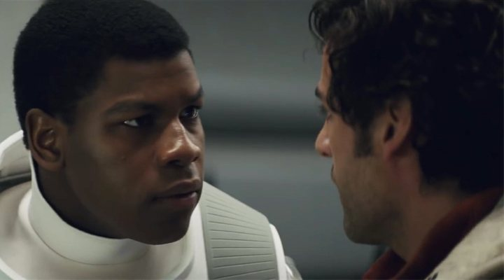 John Boyega y Oscar Isaac en 'Star Wars: El despertar de la fuerza'