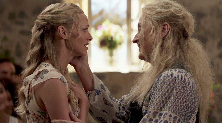 Amanda Seyfried y Meryl Streep en 'Mamma Mia! Una y otra vez'