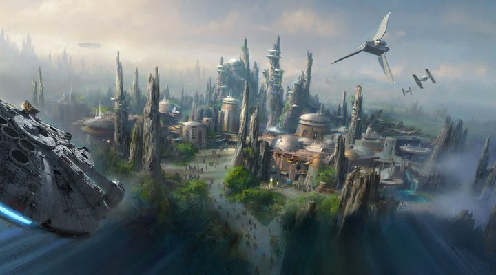 Boceto de 'Star Wars Land'