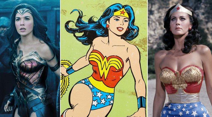 Gal Gadot, la Wonder Woman de los cómics y Lynda Carter