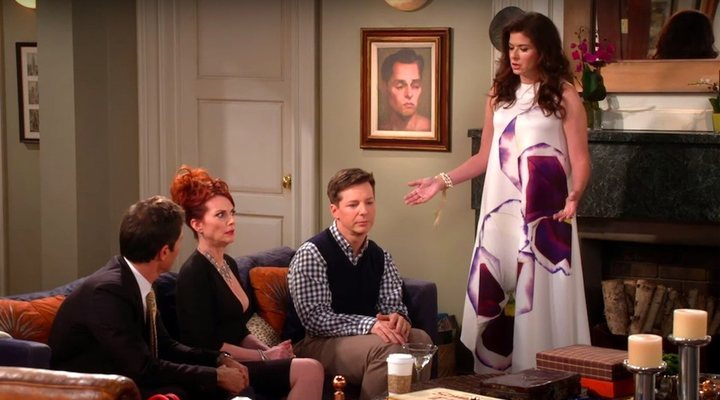 Debra Messing, Eric McCormack, Megan Mullally y Sean Hayes en 'Will y Grace'