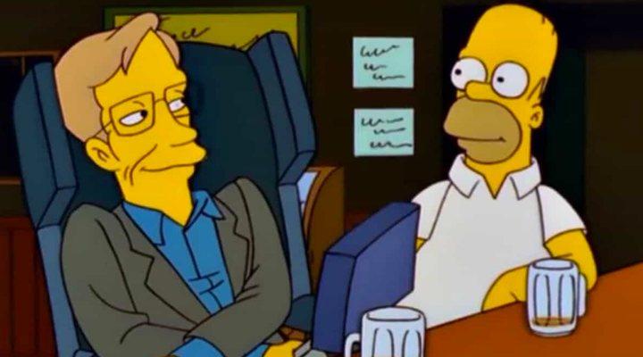 Stephen Hawking y Homer Simpson