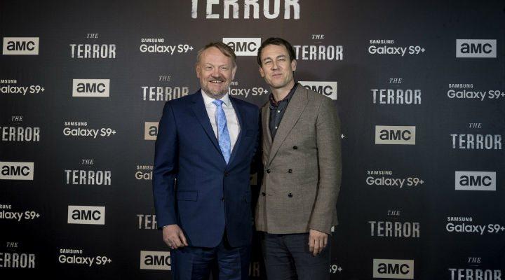 Jared Harris y Tobias Menzies presentando 'The Terror' en Madrid