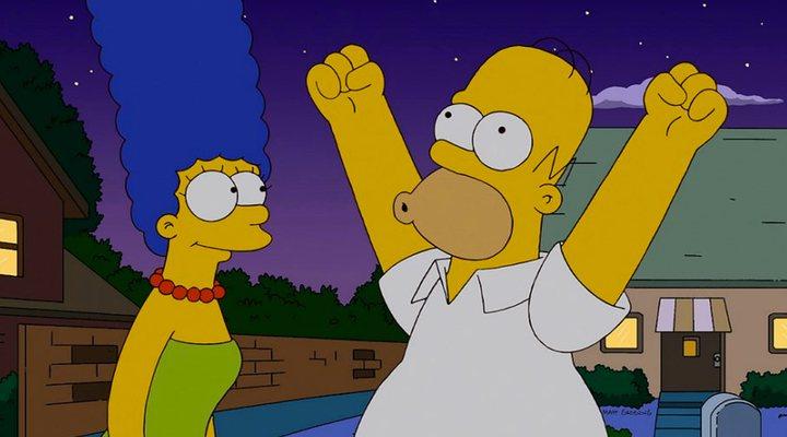 Marge y Homer en 'Los Simpson'
