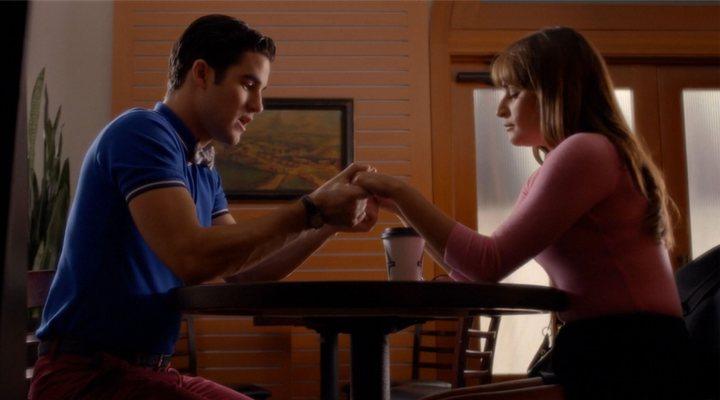 Lea Michele y Darren Criss en 'Glee'