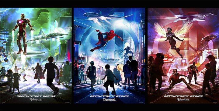 Imágenes promocionales de Spider-Man, Iron Man y la Avispa en Disneyland