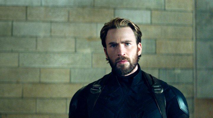 Chris Evans como Capitán América en 'Vengadores: Infinity War'