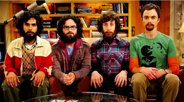 Johnny Galecki, Jim Parsons, Simon Helberg y Kunal Nayyar en 'The Big Bang Theory'
