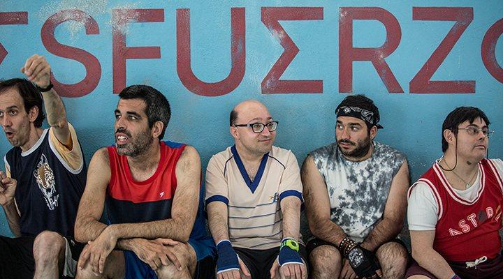 'Algunos de los integrantes del equipo de baloncesto de 'Campeones''