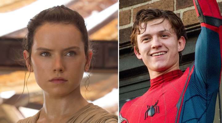 Tom Holland y Daisy Ridley
