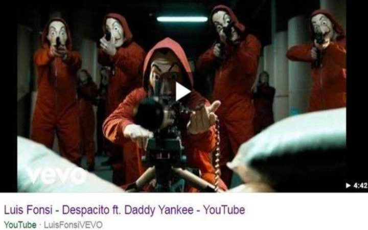 'La casa de papel' sustituye al vídeo de 'Despacito'