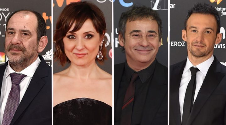 Karra Elejalde, Nathalie Poza, Eduard Fernández y Alejandro Amenábar